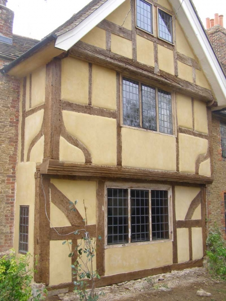 Limewash timber frame